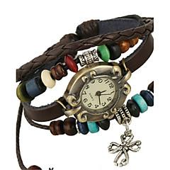 Dames Modieus horloge Armbandhorloge Kwarts PU Band Bruin