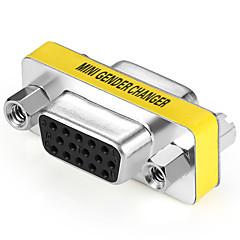 VGA Adapteri, VGA to VGA Adapteri Naaras - Naaras Nikkeli-terästä