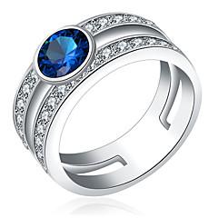 Γυναικεία Ανδρικά Δαχτυλίδια για τη Μέση του Δαχτύλου Βέρες ΚρυστάλλινοΒασικό Love Χιπ-Χοπ χαριτωμένο στυλ κοσμήματα πολυτελείας Κλασσικά