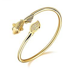 Damskie Bransoletki cuff Cyrkonia Klasyczny Modny Godny podziwu luksusowa biżuteria Cyrkon Pozłacane Pokryte różowym złotem Animal Shape