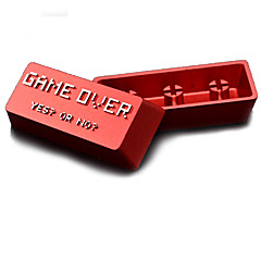Aluminiumlegering metaal sleutelhanger enter keycap set voor mechanische toetsenbord top gedrukt