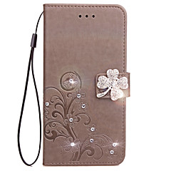 Hoesje voor xiaomi redmi 4a 4x hoesje kaarthouder portemonnee strass met tribune flip reliëf full body hoesje bloem hard pu leer voor