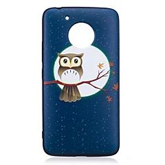 Case voor Motorola G5 G5 Plus Cover Uilpatroon Achterhoesje Soft TPU