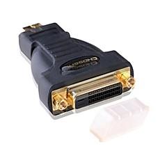 HDMI 1.4 Adapter, HDMI 1.4 to DVI Adapter Mannelijk - Vrouwelijk Verguld koper
