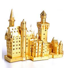 puzzle-uri Kit Lucru Manual Puzzle 3D Blocuri de pereti DIY Jucarii Arhitectură Teak
