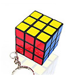 Rubiks kubus Soepele snelheid kubus Gladde Sticker Magische kubussen Sleutelhanger Kunststoffen
