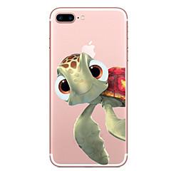 Käyttötarkoitus iPhone X iPhone 8 kotelot kuoret Läpinäkyvä Kuvio Takakuori Etui Eläin Pehmeä TPU varten Apple iPhone X iPhone 8 Plus