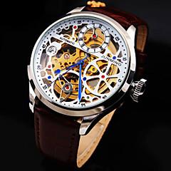 mechanische horloges Automatisch opwindmechanisme Echt leer Band Luxueus