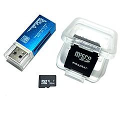 16gb microsdhc tf geheugenkaart met alles in één usb kaartlezer en sdhc sd adapter