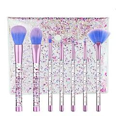 7 stuks Wenkbrauwkwast Concealerkwast Waaierkwast Foundationkwast Brush Sets Blushkwast Oogschaduwkwast Lippenkwast Synthetisch haar