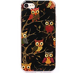Til iPhone 7 iPhone 7 Plus Etuier Ultratyndt Mønster Bagcover Etui Ugle Blødt TPU for Apple iPhone 7 Plus iPhone 7 iPhone 6s Plus iPhone