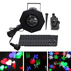 ywxlight® ip65 eu us uk dugó vízálló 6w hópehely karácsonyi kivetítő fény otthoni kerti táj kültéri világítás mintázott vetítés fény