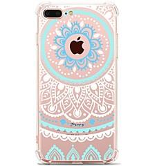 Kompatibilitás iPhone 7 iPhone 7 Plus tokok Ultra-vékeny Minta Hátlap Case csipke nyomtatás Puha Hőre lágyuló poliuretán mert Apple