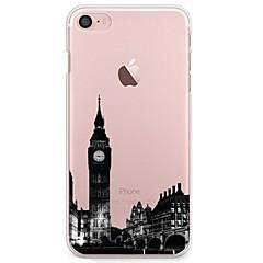 Voor iPhone 7 iPhone 7 Plus Hoesje cover Ultradun Transparant Patroon Achterkantje hoesje Uitzicht op de stad Zacht TPU voor Apple iPhone