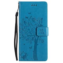 til kuffert kortholder lommebog med stativ flip præget fuld krops taske sommerfugl træ hårdt pu læder til sony sony xperia xz sony