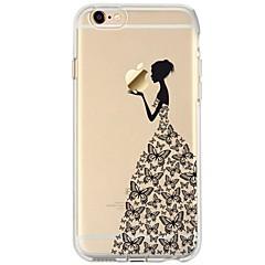 Na iPhone 7 iPhone 7 Plus Etui Pokrowce Ultra cienkie Przezroczyste Wzór Etui na tył Kılıf Seksowna dziewczyna Rysunek Miękkie Poliuretan