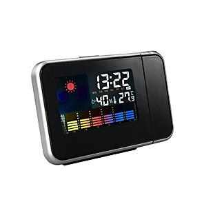 Huishoudelijke projectie wekker met temperatuur en vochtigheid display