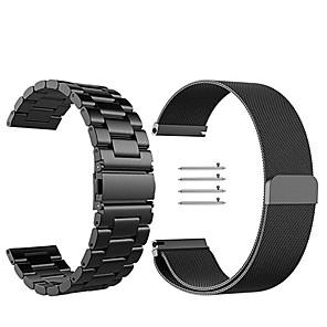 Horlogeband voor Gear S3 Frontier / Gear S3 Classic Samsung Galaxy Milanese lus Roestvrij staal Polsband