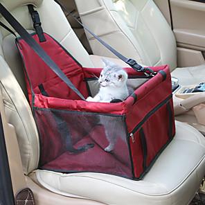 Γάτα / ΣκÏλος Κάλυμμα Καθίσματος Αυτοκινήτου Κατοικίδια Αντικείμενα μεταφοÏάς ΑδιάβÏοχη / ΦοÏητό / ΠÏοσαÏμόσιμη / Τηλεσκοπικό ΜονόχÏωμο Κόκκινο / Μπλε / Ροζ