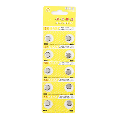 Ag6 371a alta capacidad de las pilas alcalinas de - Pilas boton tipos ...
