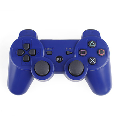 wireless controller for ps3 blue 123842 2016. Black Bedroom Furniture Sets. Home Design Ideas