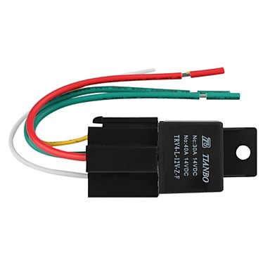 Car Electric Relay, 12V 40A