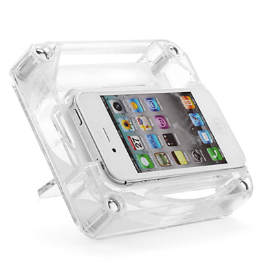 Genuine iPega 10dB Stereo Acoustic Amplifier with Case Cover for iPhone 4/4S (Transparent)