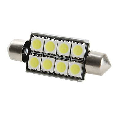 42mm 8x5050 SMD White Light LED Bulb for Car CANBUS (DC 12V, 2-Pack)