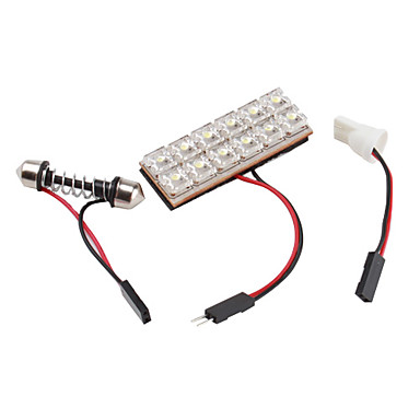 Auto festoen en t10 12led witte led auto signaallamp for Led autolampen
