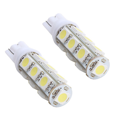 t10 5050 smd 13 ampoule led lumi re blanche pour la voiture dc 12v 2 pack de 382452 2017. Black Bedroom Furniture Sets. Home Design Ideas