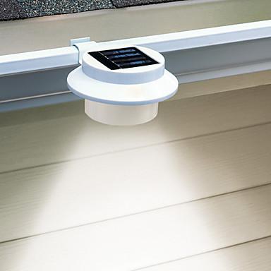 3 led white light led solar gutter safety light cis - Iluminacion exterior led solar ...