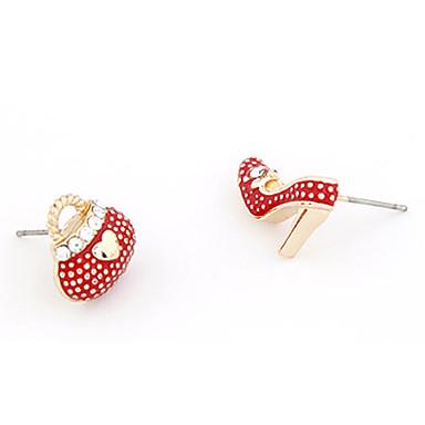 High-Heels Shoe Bag Stud Earrings