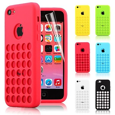 MAYLILANDTM Dots Hole TPU Soft Case for iPhone 5C (Assorted Colors)
