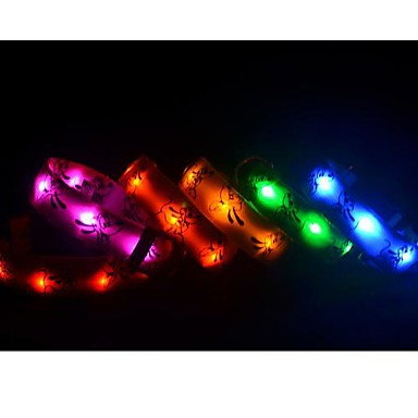 Nueva plut n luces led collares para perros mascotas for Luces led colores