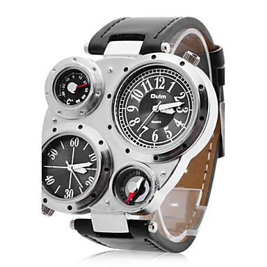 OULM® Men's Watch Military Multifunction Dual Time Zones Compass and Thermometer  Cool Watch Unique Watch Fashion Watch