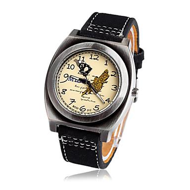 s water resistant leather band quartz wrist