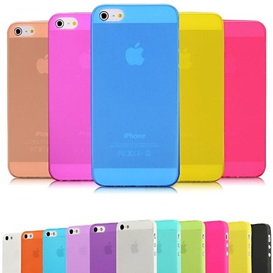 DSB® Premium Matte Surface PP Ultra Thin 0.01 inch/0.3 mm Soft Case for iPhone 5/5S (Assorted Colors)