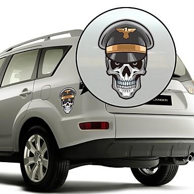 Skeleton Sergeant Pattern Decorative Car Sticker