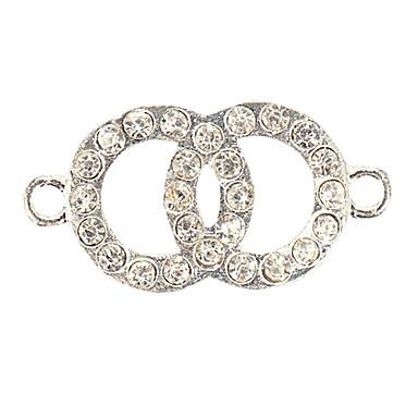 rhinestone dobbelt cirkel diy charms vedhæng til armbånd& halskæde 1676763 2017 – €0.99