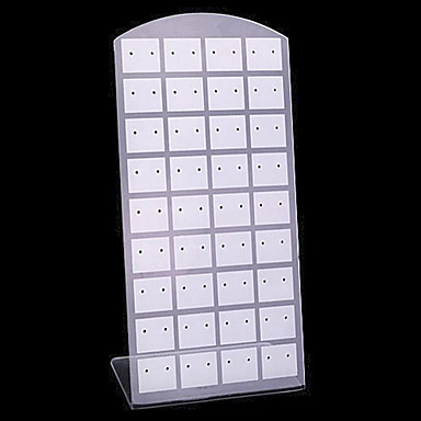 Classic 24 Sets Earrings Stand Multicolor Acrylic Jewelry Displays(1 Pc)(Black,White)