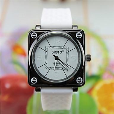 Men's Sporty Dial Black Case Silicone Band  Quartz Wrist Watch (Assorted Colors)