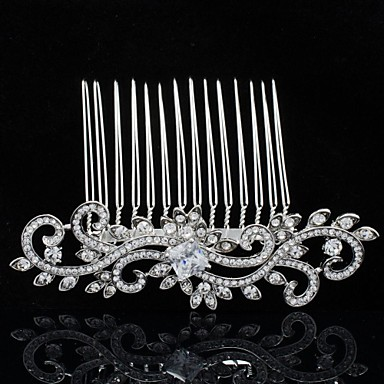 Rhinestone Princess Zircon Tiara Hair Comb Women Wedding Bridesmaid