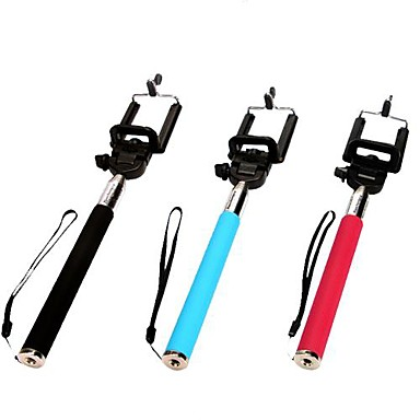 DF 115 CM Extendable Telescopic Monopod Selfie Mobile Phone Holder for iPhone 4/4S 5/5S (Assorted Colors)