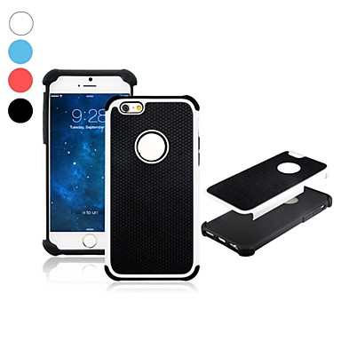 2-in-1 Ball Grain Pattern Design Silicone and PC Material Hard Case for iPhone 6 (Assorted Colors)