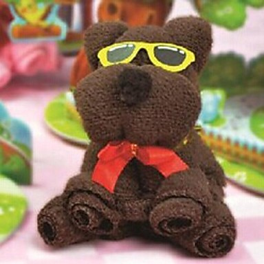 Birthday Gift Bear Shape Fiber Creative Towel (Random Color)  #02077093