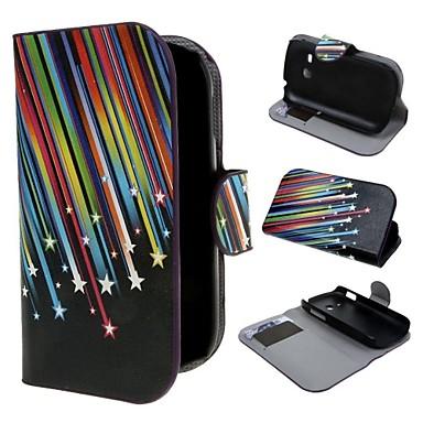 Падающие звезды Wallet PU кожаный чехол с подставкой и слот для карт Samsung Galaxy Fame Lite S6790