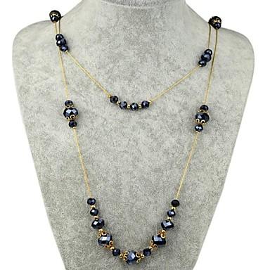 Este collar de bisuteria tiene un diseño elegante con la forma de Y. Perlas, piedras preciosas y cristales de fantasía lucen muy bien en este diseño. Incluso podran utilizar una combinación de diversas perlas, cuentas o mostacillas para añadirle, según gusten. Yo usé perlas azules y un corazón de cr.