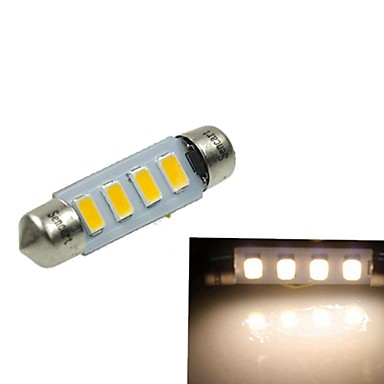 39mm sv8 5 8 2w 4x5730smd 120 1600lm 3000 3500k warm wit for Led autolampen