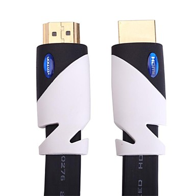 5M 16.4FT VENTION 19Pin Gold Plated Flat Male to Male HDMI Cable V2.0 for Computer