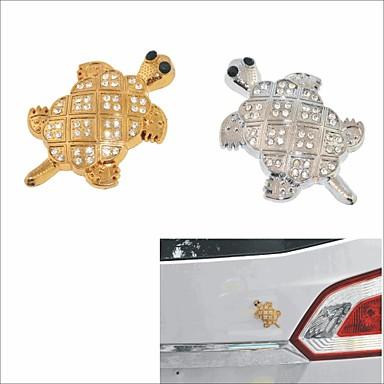 3d autocollant tortue de cristal voiture de d coration de t les d 39 acier inoxydable bricolage de - Voiture tortue ...